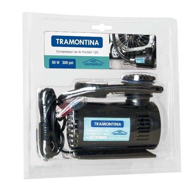 Compressor de Ar Portátil Tramontina 12V para Carros 300 psi 50W - Foto 5