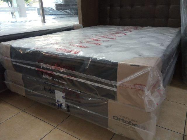 Cama Box casal D-33 molas ensacadas - Foto 2