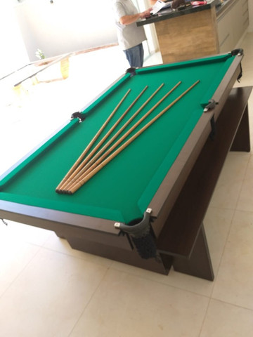 Mesa de Bilhar Encanto Imbuia Tecido Verde Modelo POQ0221 - Foto 2