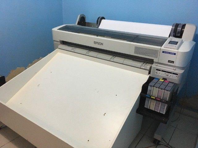 Impressora para sublimação Plotter Epson Surecolor Série F6070 Sublimática Seminova - Foto 3
