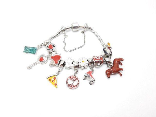 Pulseiras e berloques lindos modelos monte sua pulseira - Foto 6