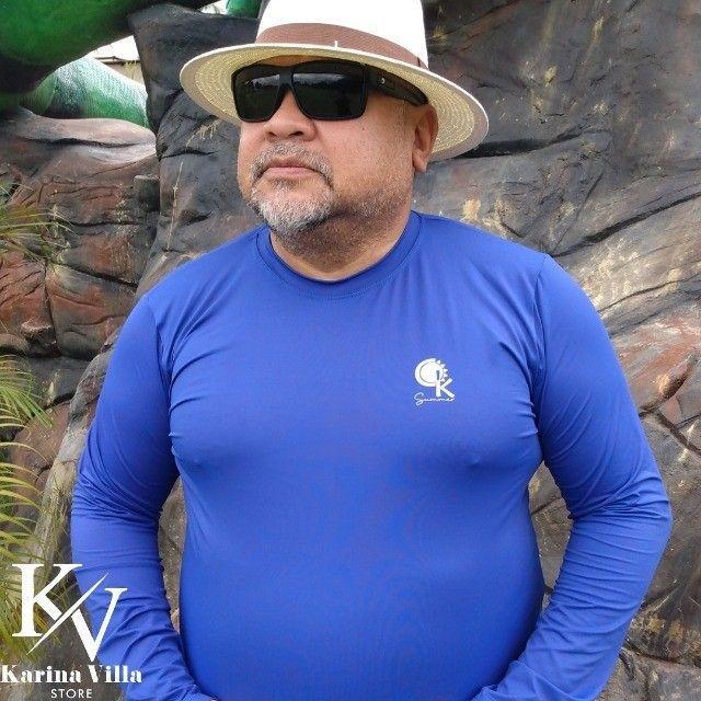 Camisas de Proteção UV Plus Size - Foto 4