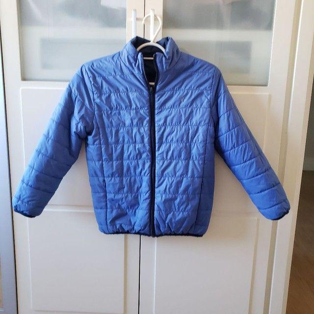 Jaqueta de Nylon infantil reversível tamanho 7-8 - Foto 3