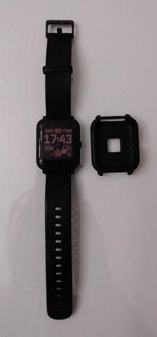 Relógio Smartwatch Amazfit Bip A1608 Onyx Black Original - Foto 4