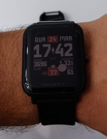 Relógio Smartwatch Amazfit Bip A1608 Onyx Black Original