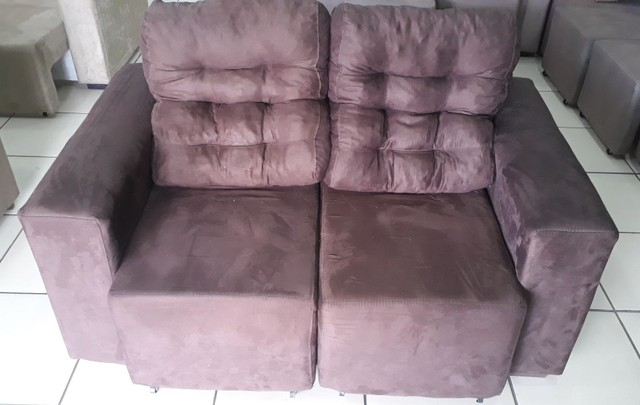 Estofado 2 lugares retrátil e reclinável - Foto 3