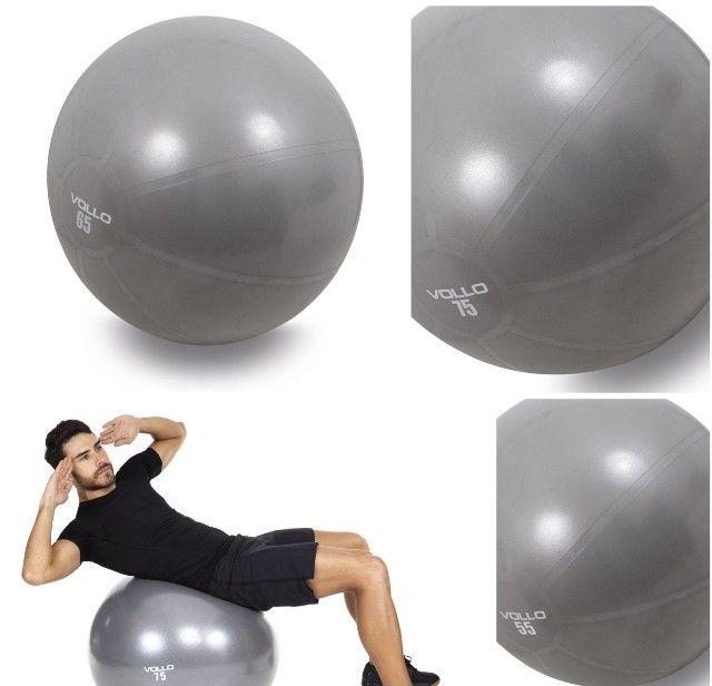 Bola de Pilates c/Bomba 55,65 e 75cm -Vollo