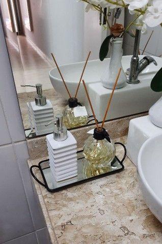 Bandeja Espelhada Para Banheiro Retangular Lavabo Sala Preta - Foto 4