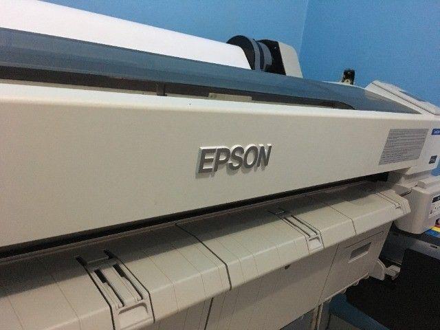 Impressora para sublimação Plotter Epson Surecolor Série F6070 Sublimática Seminova - Foto 2