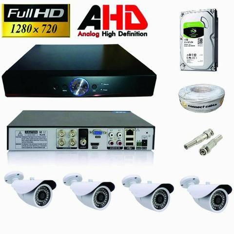 Kit com 4 cameras AHD 3.0pix + instalação ( 999,00 ) - Foto 4