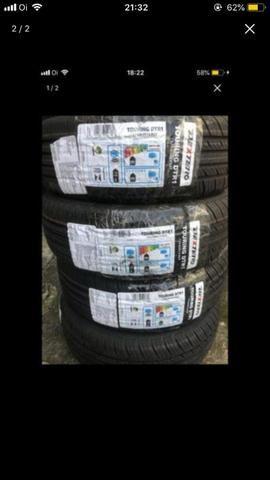 Jogo de pneus com 4 unidades 175/65/14 em 5x de 187,00 nos cartões