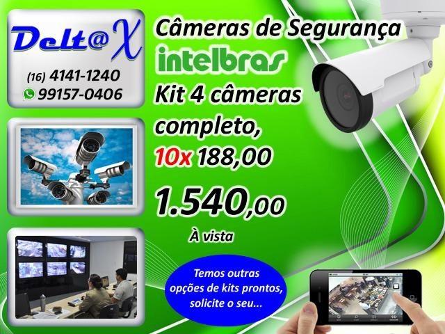 Kit DVR + 2 Câmeras Intelbras, Instalado, HD-720P - Foto 3