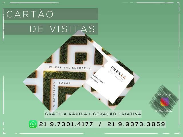 Cartão de visitas Couchê 300g - Foto 4