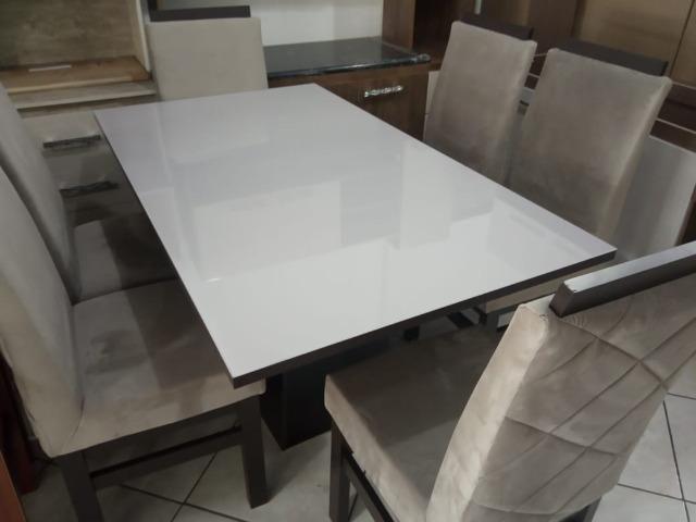 Mesa de vidro 6 cadeiras - Foto 2