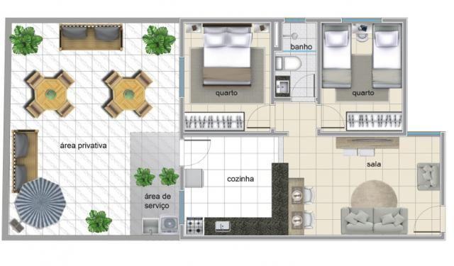 Apartamento à venda com 2 dormitórios em Serrano, Belo horizonte cod:IBH1786 - Foto 4