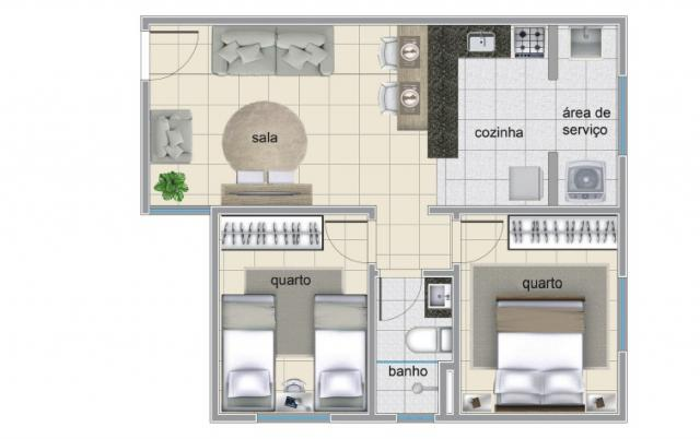 Apartamento à venda com 2 dormitórios em Serrano, Belo horizonte cod:IBH1786 - Foto 6