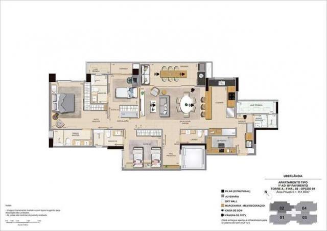 Sense Vertical Living - 115 a 151m² - Bairro Jardim das Acácias - Uberlândia, MG - Foto 17