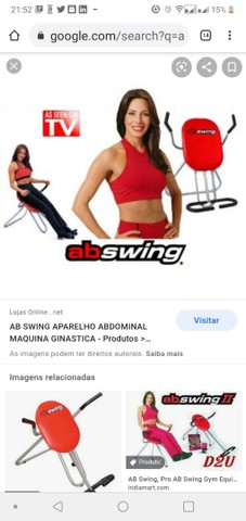 Aparelho de ginástica abdominal -  ABSWING - Foto 2