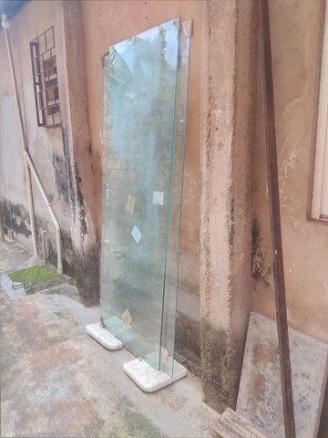 Porta de vidro 300 reais cada de correr - Foto 3