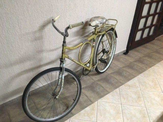 Bicicleta barra forte antiga peças originais  - Foto 3