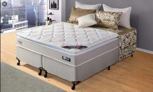 Cama Box Queen Vogue D45 com Pillow -77cm Altura