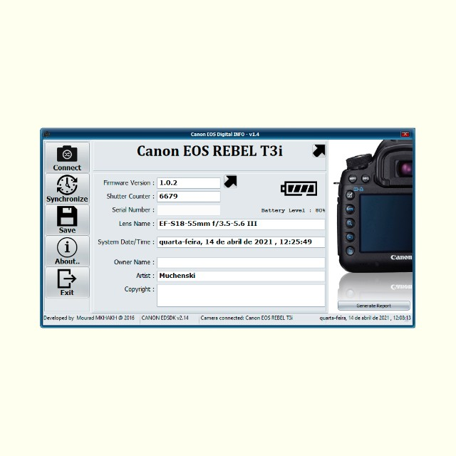 Canon Eos Rebel T3i 18-55mm Is Ii Kit Dslr Com 6700 Cliques - Foto 2