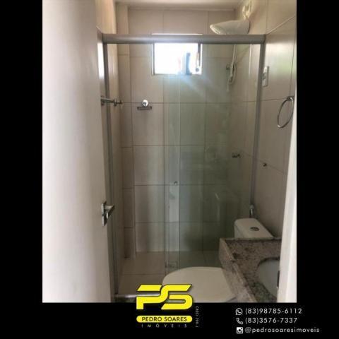 Apartamento com 2 dormitórios para alugar, 60 m² por R$ 1.700/mês - Altiplano Cabo Branco  - Foto 11