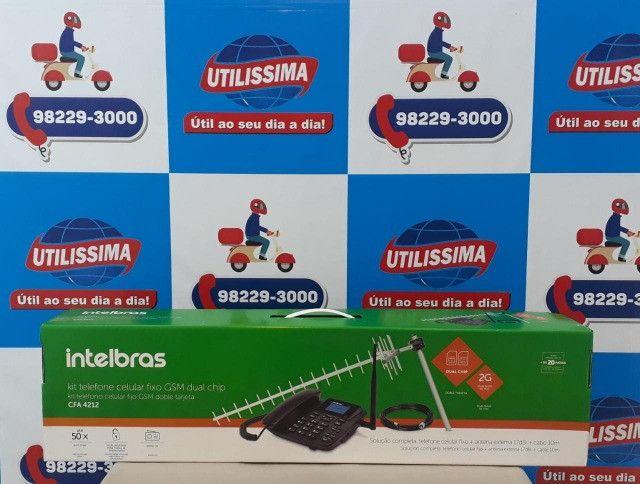 Kit Celular Rural Aquário Telefone + Cabo + Antena ? Entrega Gratis * - Foto 4