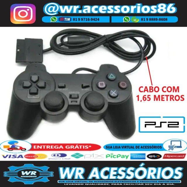 Controle para PS2 - Entrega Grátis - Foto 2