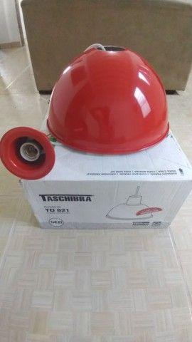 Pendente Taschibra TD 821 Vermelho