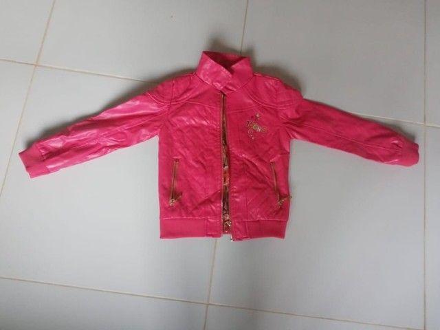 Jaqueta de coro rosa feminina para criança. - Foto 2
