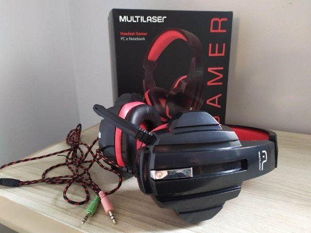 Headset Fone Pc Gamer P2 Stereo Multilaser Ph120 - Foto 3