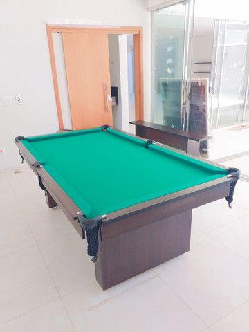 Mesa de Bilhar Encanto Imbuia Tecido Verde Modelo POQ0221 - Foto 4