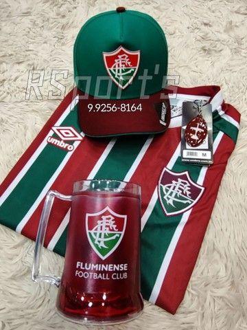 Kit presente dia dos Pais camisa caneca e boné do Fluminense - Foto 2