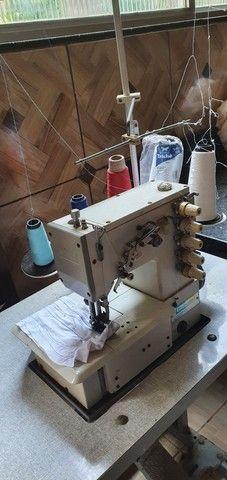 Máquina de costura Galoneira Industrial Bracob BC 4000-5 completa 3 Agulhas - Usada