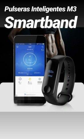 Smartband Relógio Pulseira Função App Celular M3 - Foto 4