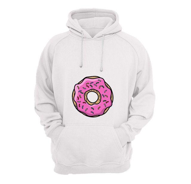 Moletom canguru com estampa Donuts
