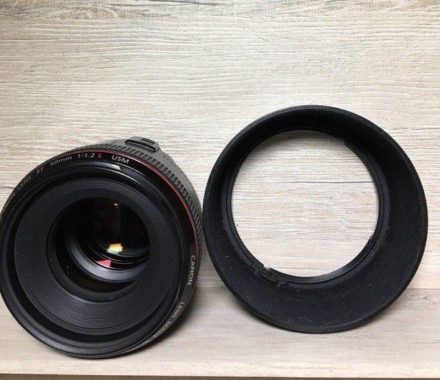 Lente cânon EF 50mm F/1.2 L Usm - Foto 3