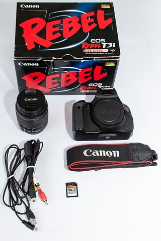 Canon Eos Rebel T3i 18-55mm Is Ii Kit Dslr Com 6700 Cliques - Foto 3