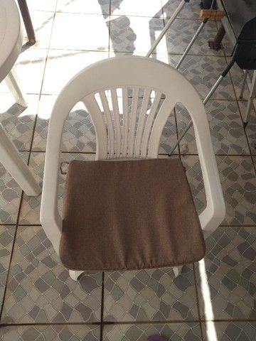 4 Almofadas em linho para assento  - Foto 2