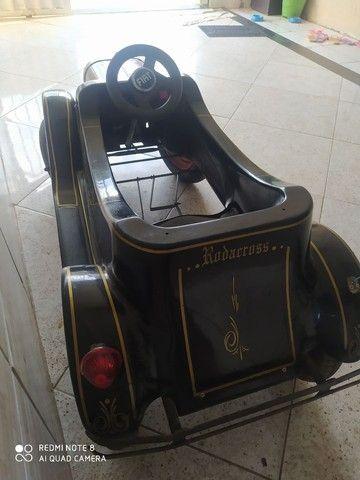 Carrinho de pedal infantil.   Antigo de fibra  - Foto 2