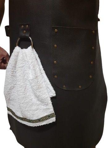 Avental de couro com alças reguláveis - Foto 5