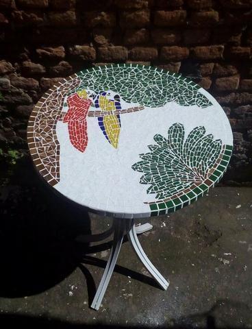 Passarinho, arara, borboleta, jardim, flor, planta mosaico - Foto 2