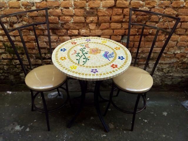 Passarinho, arara, borboleta, jardim, flor, planta mosaico - Foto 3