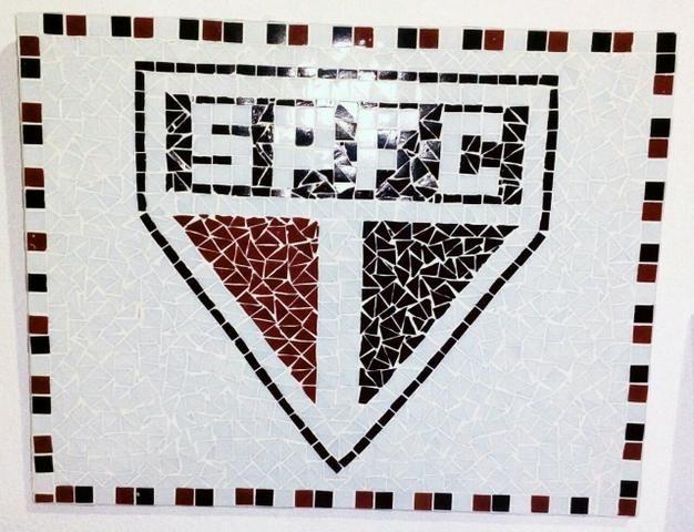 Reiki, São Francisco, São Paulo, futebol, quadro, relevo, 3d, picassiette, mosaico - Foto 5