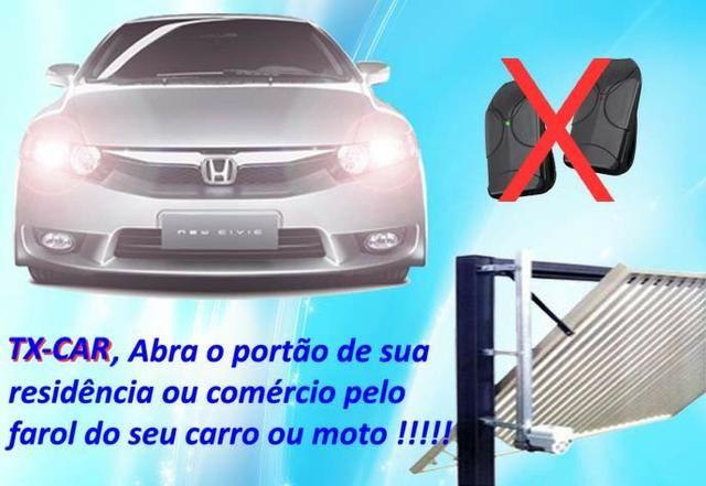 Controle P/ portão no farol do Carro ou Moto, TX-Car