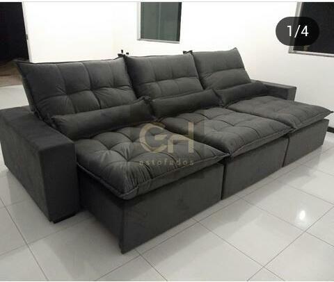 Sofa Retratil 3 Modulos Novo Extremo Conforto 10x Cartao Moveis