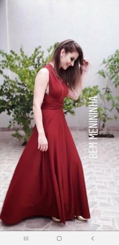 648de4b0eb1346 Vestido Longo de Festa Infinity Dress Marsala - Roupas e calçados ...