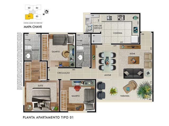 Apartamento à venda com 3 dormitórios em Buritis, Belo horizonte cod:1572 - Foto 6