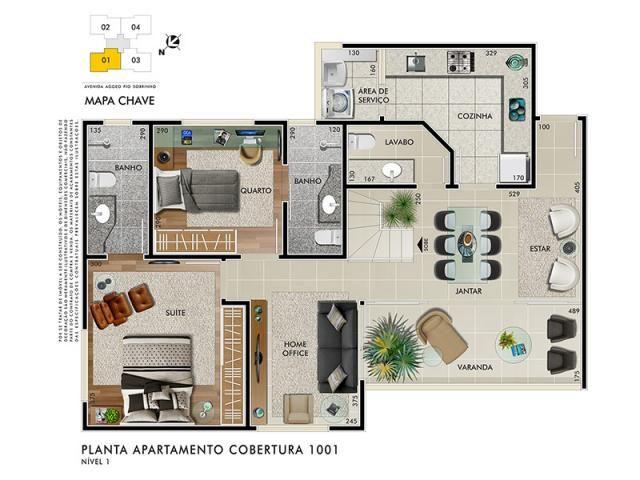 Cobertura à venda com 3 dormitórios em Buritis, Belo horizonte cod:1573 - Foto 4